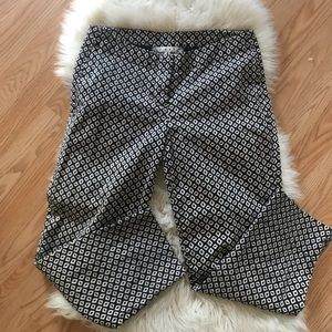 Cabi black and white dressy Ankle pants